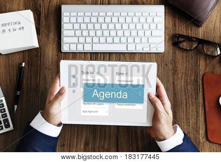 Digital Business To do List App Interface