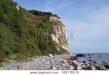 chalk Cliffs of the island Rügen in Germany
