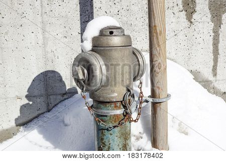 fire hydrant in New York City street. Fire hidrant for emergency fire access