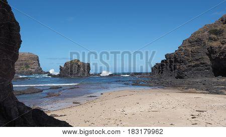The shipwreck coast at Bushrangers Bay near Mornington, Victoria Australia 2017