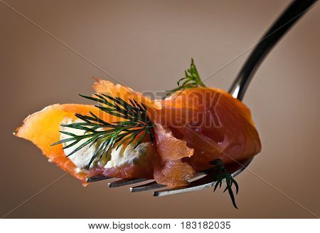 Smoked Salmon , Cream Cheese And Dill