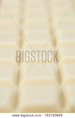 Close-up of white chocolate bar blocks