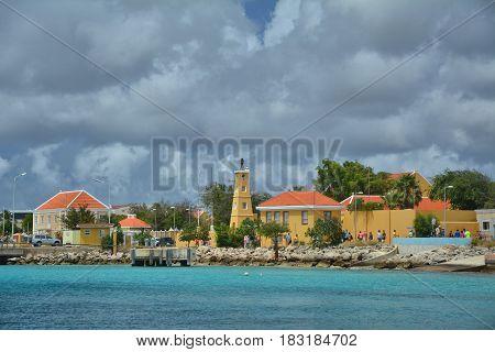 Port in Kralendijk capital city of Bonaire island of the ABC Caribbean Netherlands