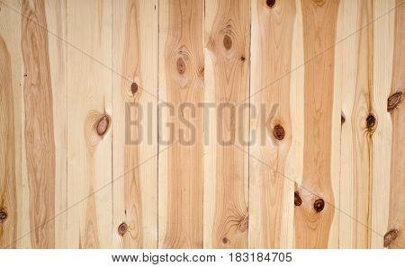 Wooden slats background of light brown color