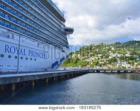 Royal Princess Ship In Dominica