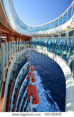 Skywalk On Cruise Ship