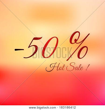 Summer hot sale -50 bright vector illustration summer price of
