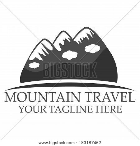 Mountain travel logo design vector eps 10