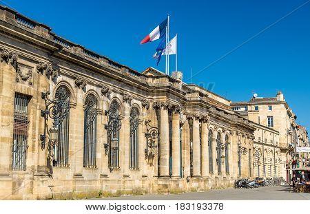 Palais Rohan, the City Hall of Bordeaux - France, Aquitaine
