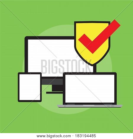 Software testing flat icon. Vector illustration. Flat design. For your next project.