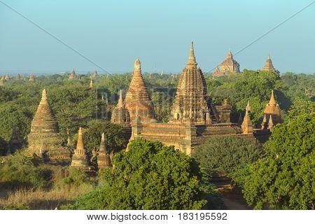 Landscape with Temples in Bagan, Myanmar (Burma)