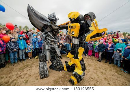 Russia. Moscow region. Balashikha - September 18, 2016. Transformers show on a children's holiday
