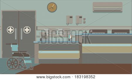 Reception in the hospital for patients vector