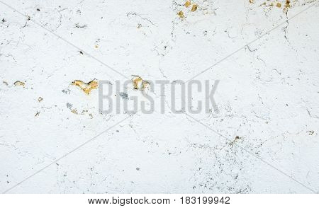 Crack White Plaster Concrete Wall Texture Background