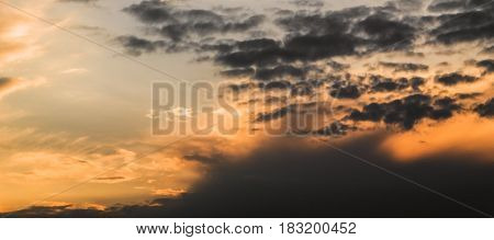 Sky, evening sky, beautiful sky and clouds in the evening, sunset, sunset sky