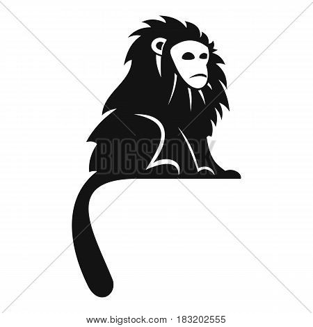 Hairy monkey icon. Simple illustration of hairy monkey vector icon for web