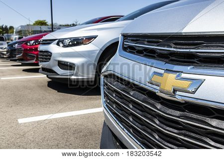 Indianapolis - Circa April 2017: Chevrolet Automobile Dealership. Chevrolet is a Division of General Motors V