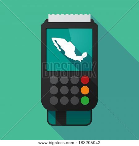 Long Shadow Dataphone With  A Map Of Mexico