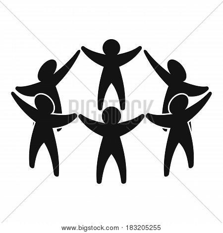 Team or friends icon. Simple illustration of team or friends vector icon for web