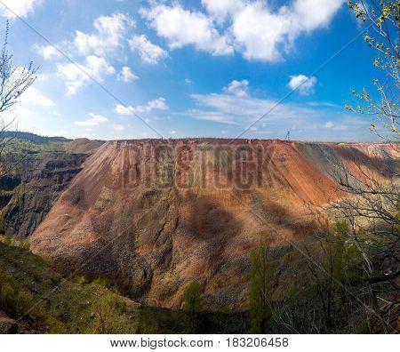 Open ore mine in the city of Krivoi Rog in Ukraine