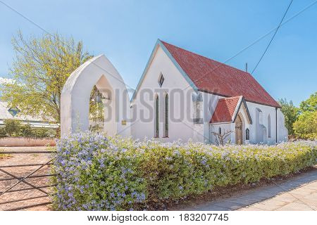 LADISMITH SOUTH AFRICA - MARCH 25 2017: The St Lukes Anglican Church in Ladismith a small town in the Western Cape Province