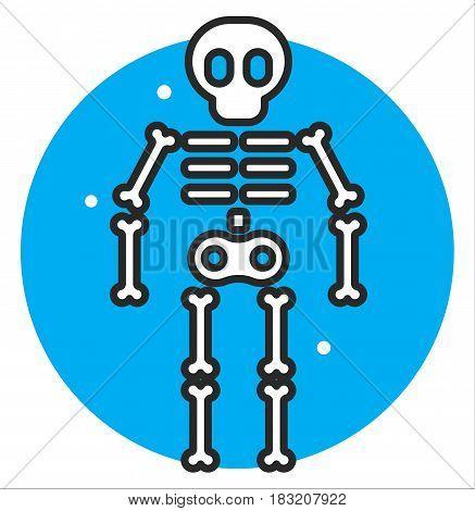 Skeleton human icon illustration design art rasterized