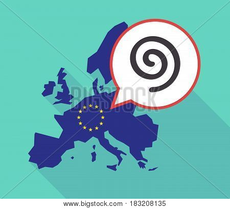Long Shadow Eu Map With  A Spiral