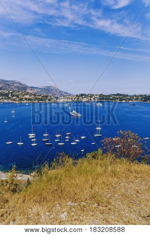 Villefranche Seaside And Coastline View