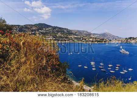 Villefranche Seaside And Coastline View