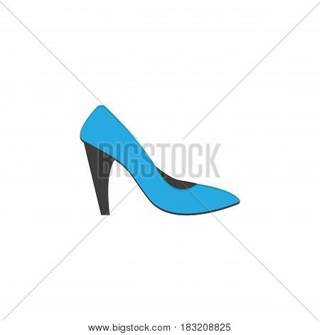 Woman shoes flat icon, shopping, pump shoes vector graphics, a colorful solid pattern on a white background, eps 10.