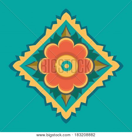 vector pattern decoration east backgrounds design flower beauty ethnicities floral styled asia image illustration style retro asian indian ornate old-fashioned elegance abstract painted art colors imagery seamless in 1940-1980 decor backdrop retro-styled