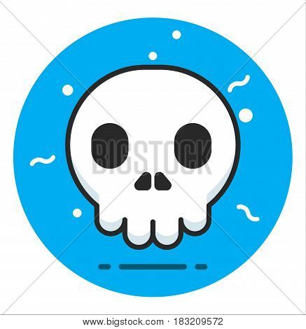 Skull human Icon illustration design art rasterized