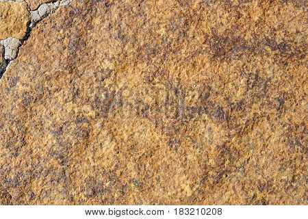 Close Up Of Old Brown Rock Background