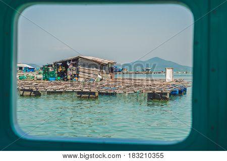 Fisherman's House on the water Vietnam Nha Trang