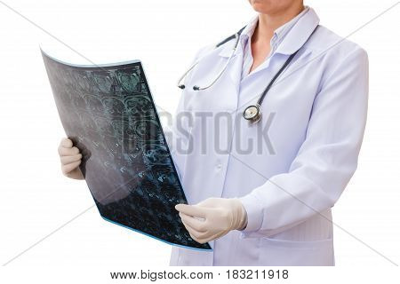Doctor Looking X-ray .