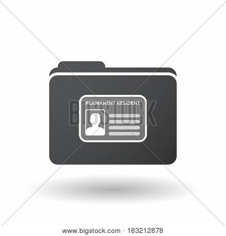 Isolated Folder Signal With  A Green Card