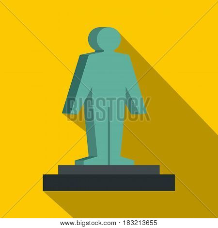 3d model of a man icon. Flat illustration of 3d model of a man vector icon for web on yellow background
