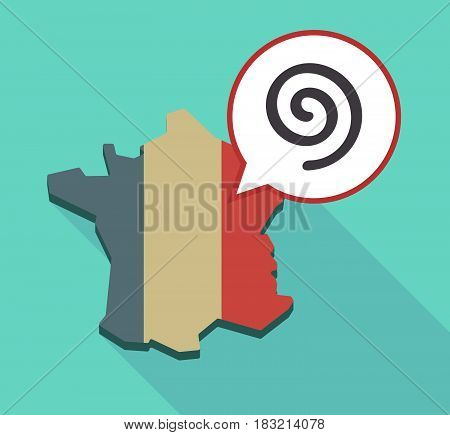 Long Shadow France Map With  A Spiral