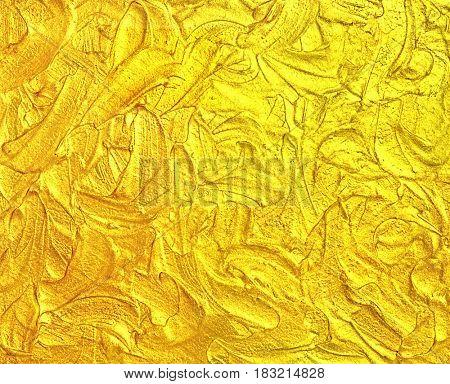 Creative liquid luxury golden texture. Hi res background.