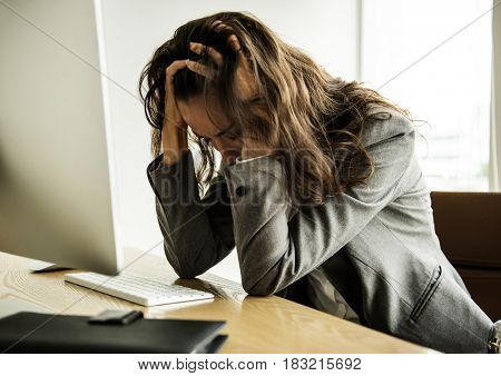 Businesswoman got Fired Unemployed Feeling Stressed