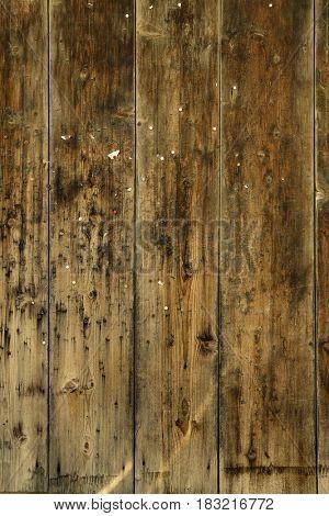Aged Wood background nails on