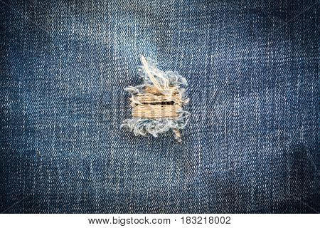Stripe texture blue used dirty jeans denim linen vintage background