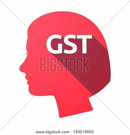 Isolated Female Head With  The Goods And Service Tax Acronym Gst