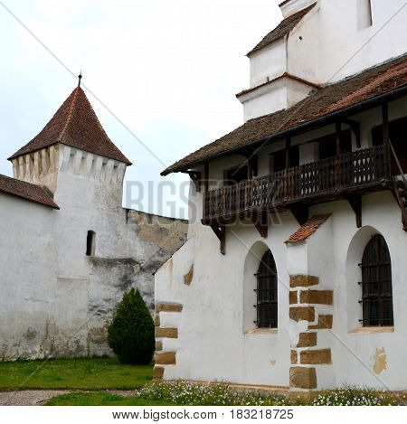 Fortified medieval saxon church in the village Harman, Transylvania, Romania. Since its founding around the 13 century it was one of the most important villages in the Burzenland area, where there was a strong Transylvanian Saxon community