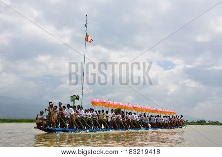Phaung Daw U Festival On Inle Lake In Myanmar