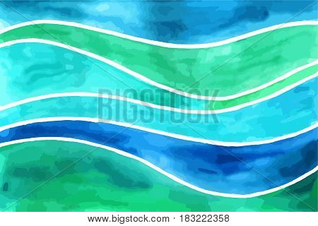 Waves Watercolor Backgrounds