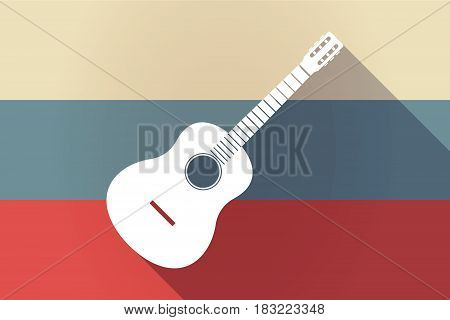 Ong Shadow Russia Flag With  A Six String Acoustic Guitar