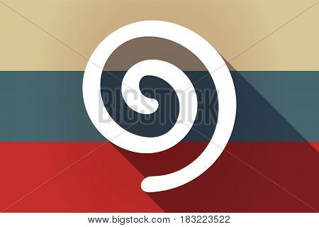 Ong Shadow Russia Flag With  A Spiral