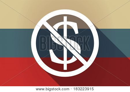 Ong Shadow Russia Flag With  A Dollar Sign  In A Not Allowed Signal