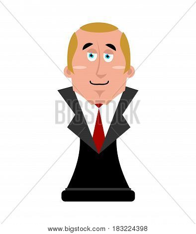 Bust of President. Big boss figurine. Vector illustration